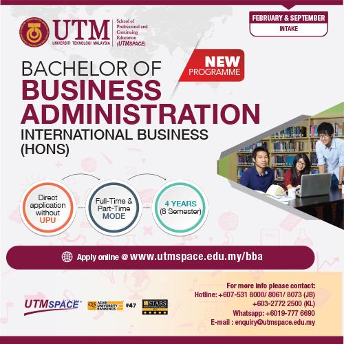 Utm Bachelor Of Business Administration Hons Utmspace